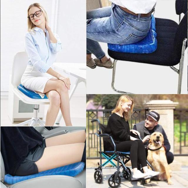 Как подобрать ортопедическую подушку для сидения на стул