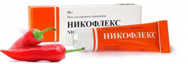 Никофлекс мазь, инструкция по применению